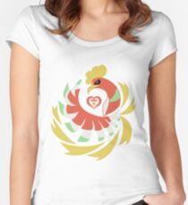 Heart Gold - Ho-Oh Women's Fitted Scoop T-Shirt
