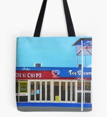Fish and Chips and Ice Cream Parlour Tote Bag