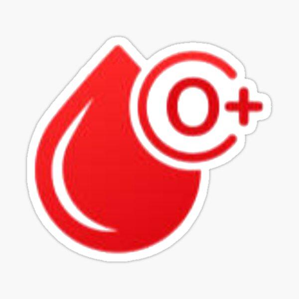 Tipo de sangre O + Pegatina