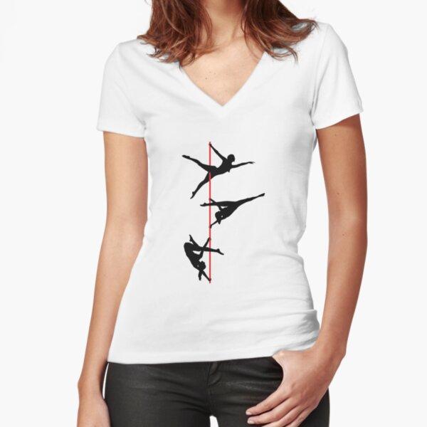 Pole dance, bailarines polacos. Camiseta entallada de cuello en V