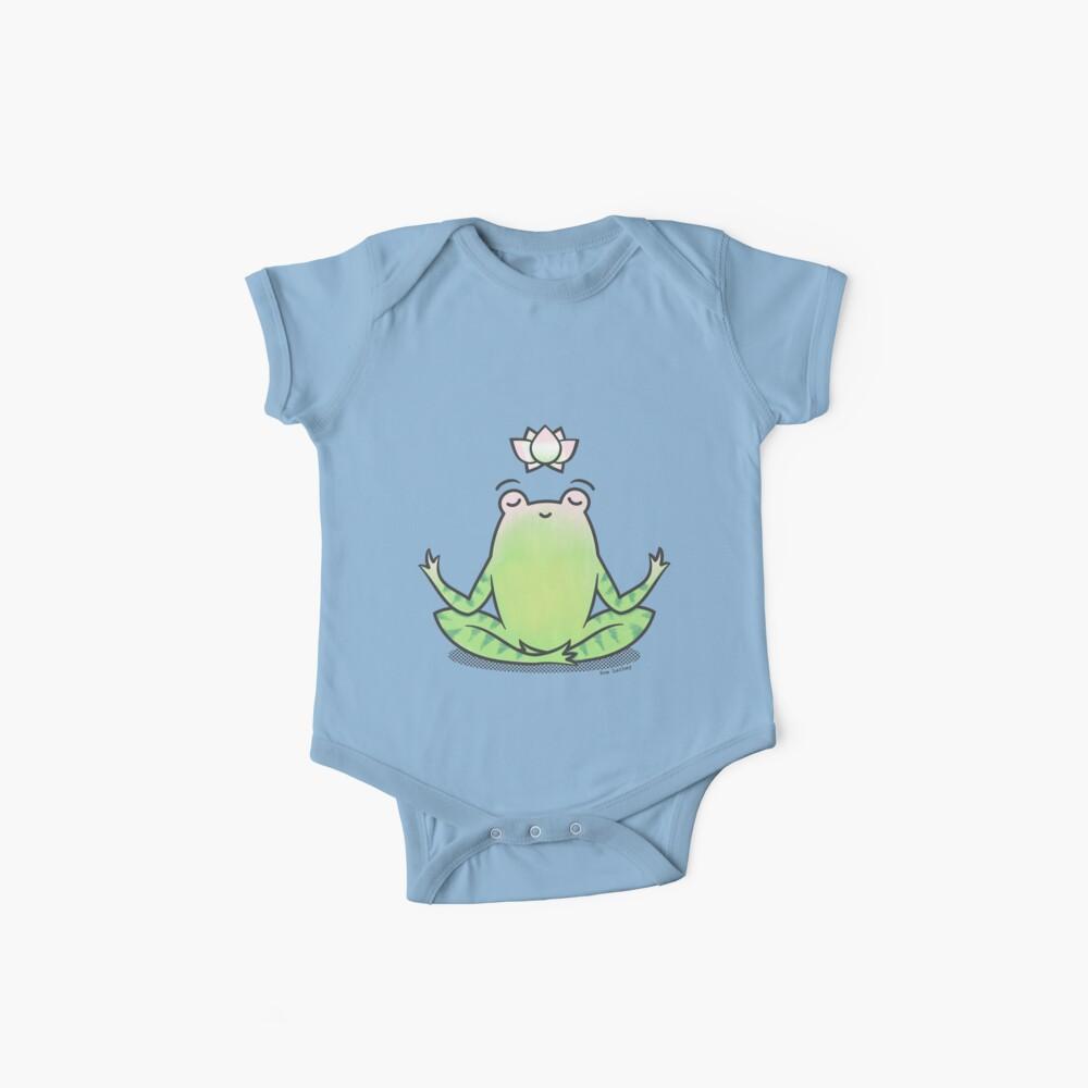 Zen Yoga Frog  Baby One-Piece
