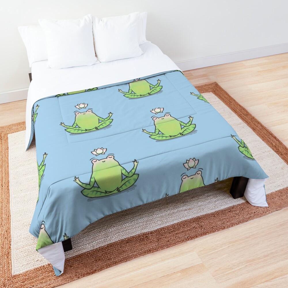 Zen Yoga Frog  Comforter