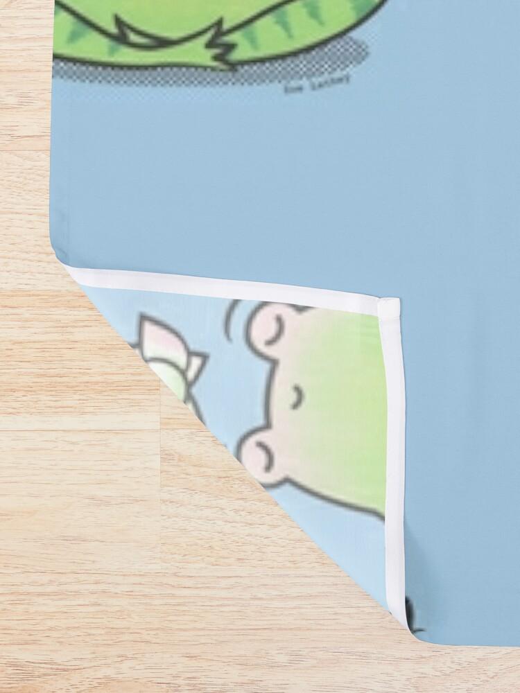 Alternate view of Zen Yoga Frog  Shower Curtain