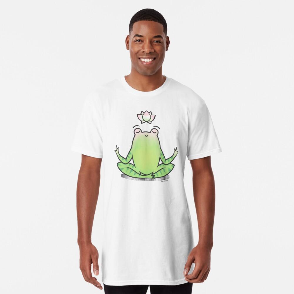 Zen Yoga Frog  Long T-Shirt
