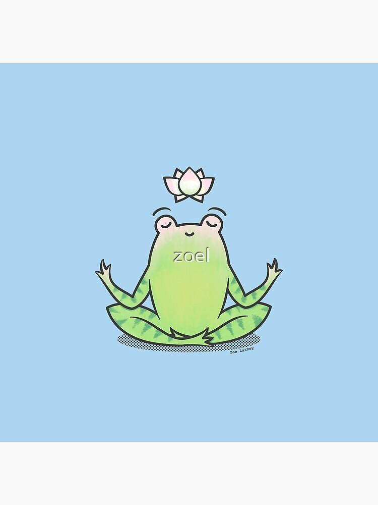 «Grenouille Yoga Zen» par zoel
