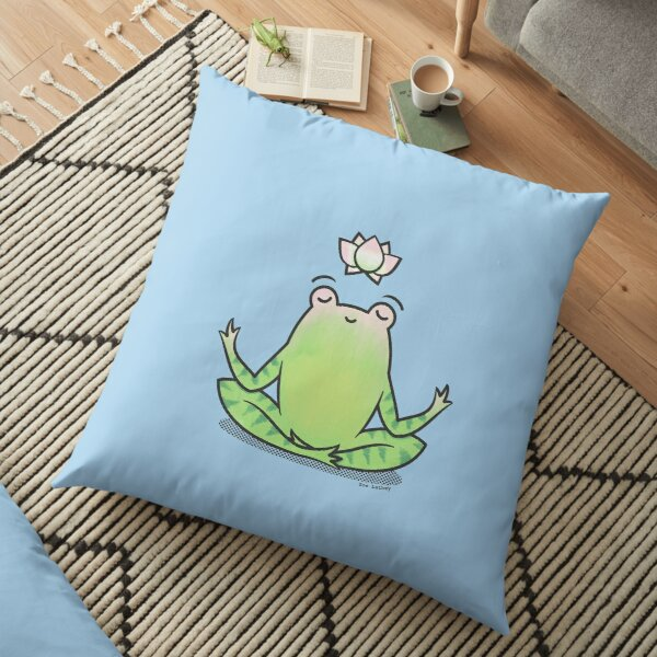 Zen Yoga Frog  Floor Pillow