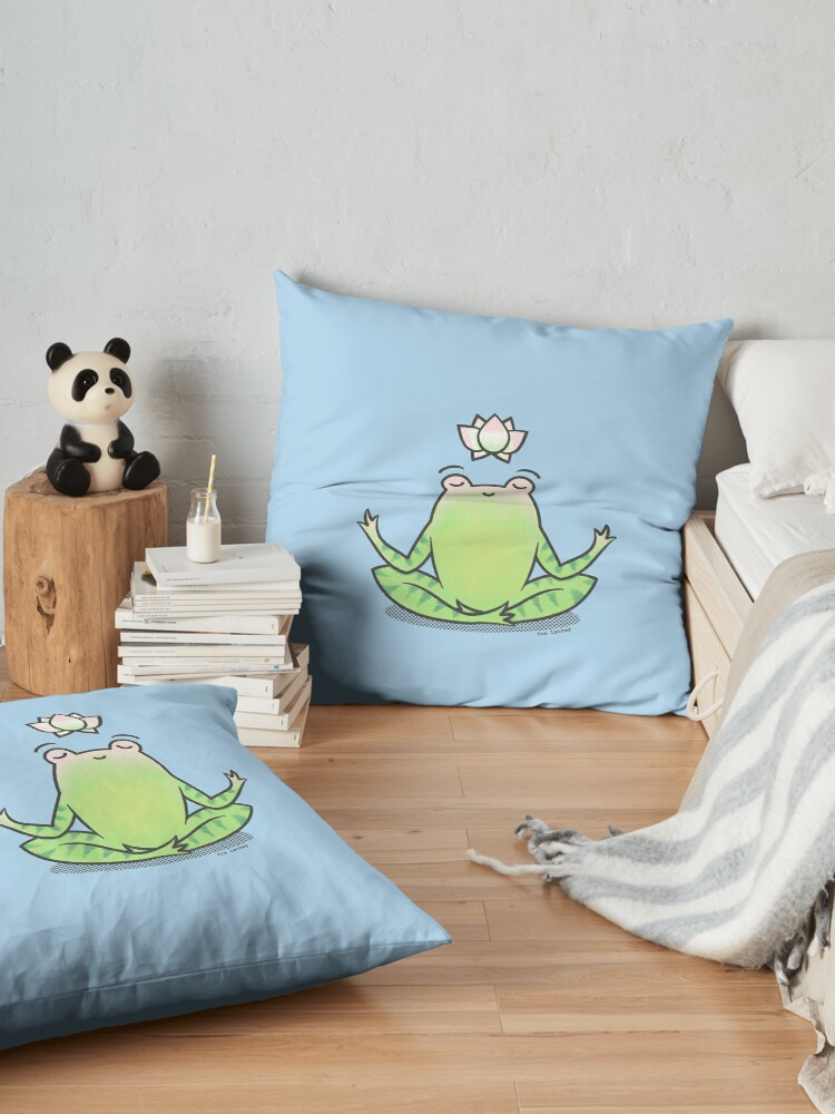 Alternate view of Zen Yoga Frog  Floor Pillow