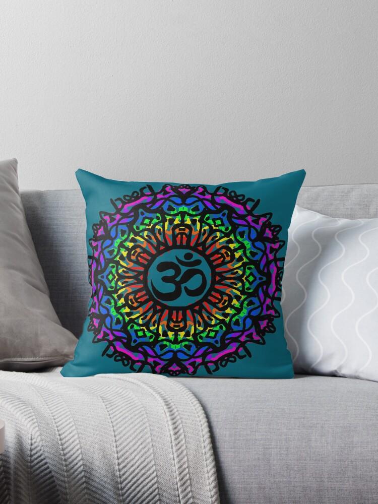 Rainbow Mandala & Om by LozzaElizabeth