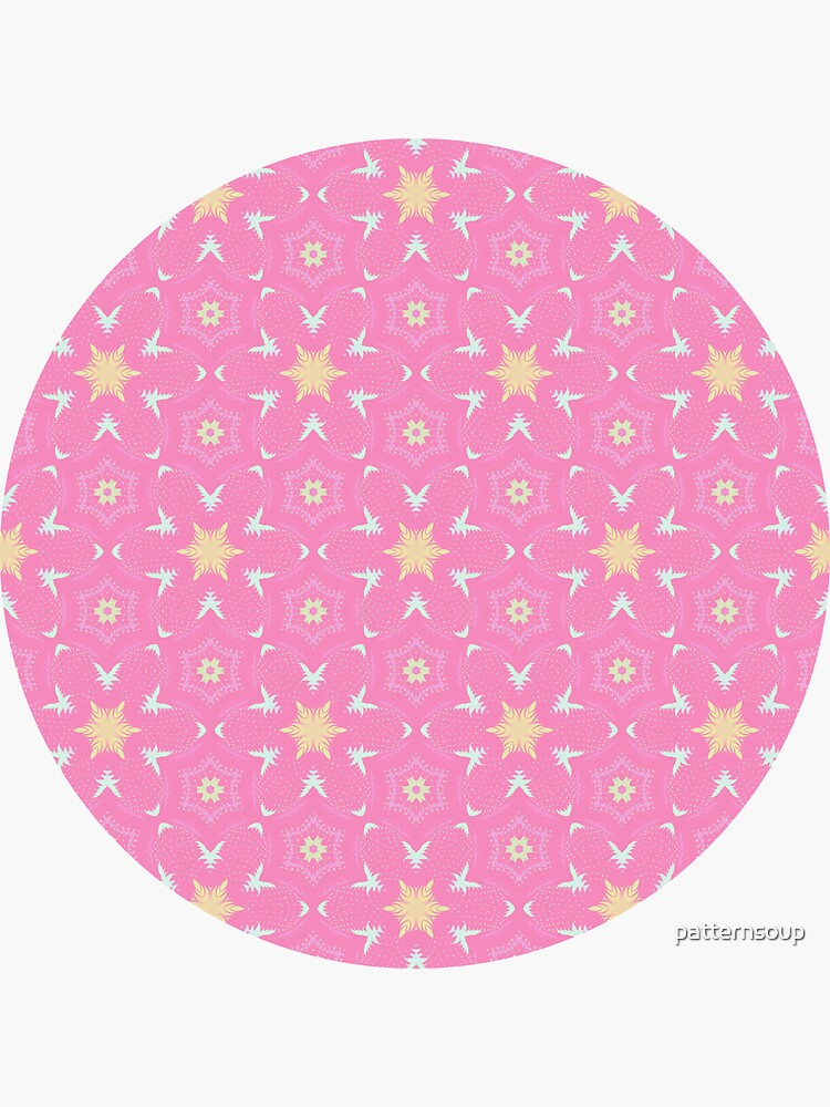 Pink Vector Yellow Star Burst Pattern Design by patternsoup