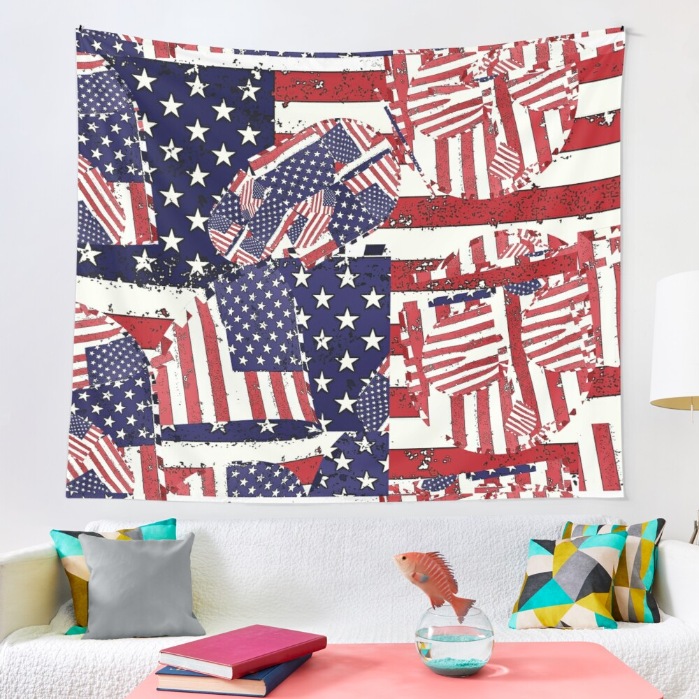 Stars and Stripes pattern Tapestry