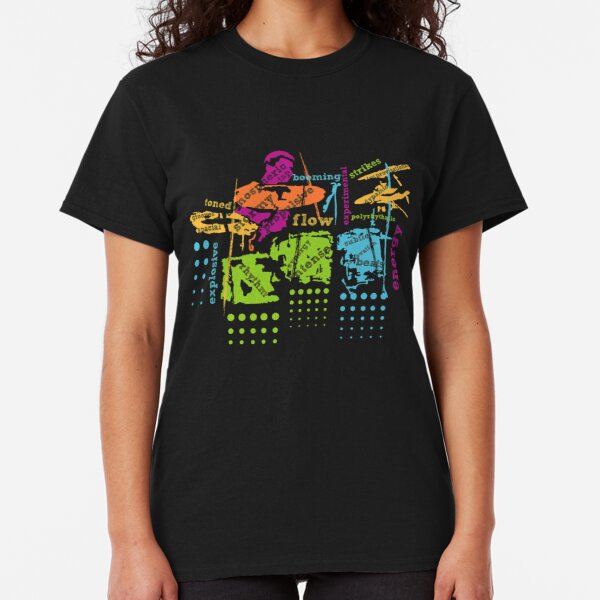 Fancy Drummer Typographic Style Classic T-Shirt