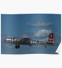 """B-17 Superfortress """"Yankee Lady"""" Poster"""