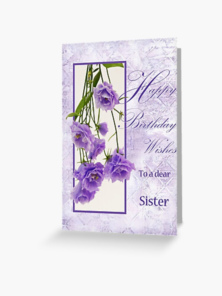 Prime Happy Birthday Wishes To A Dear Sister Greeting Card By Funny Birthday Cards Online Fluifree Goldxyz