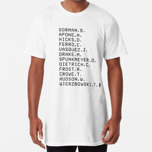 Aliens Movie - Colonial Marines [Death Order] - Light theme Long T-Shirt