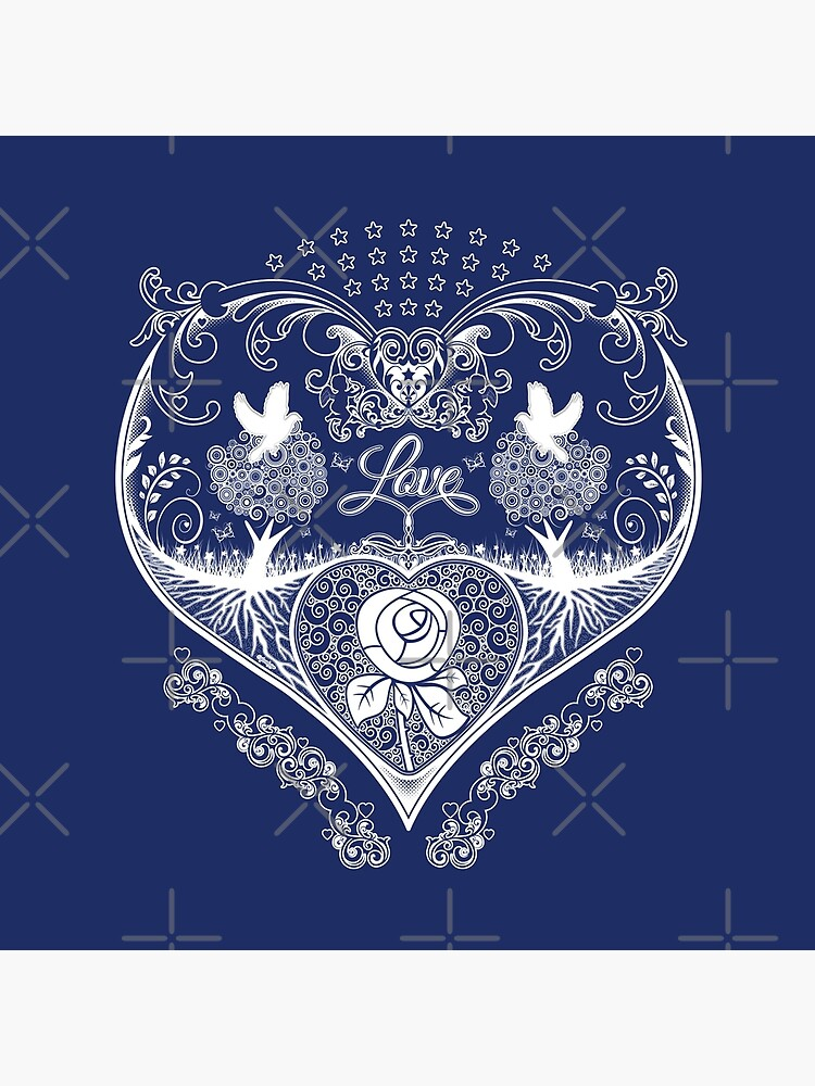LOVE HEART - Navy by ifourdezign