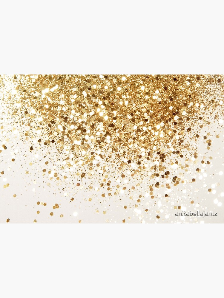 Sparkling Gold Glitter Glam #2 (Faux Glitter) #shiny #decor #art by anitabellajantz