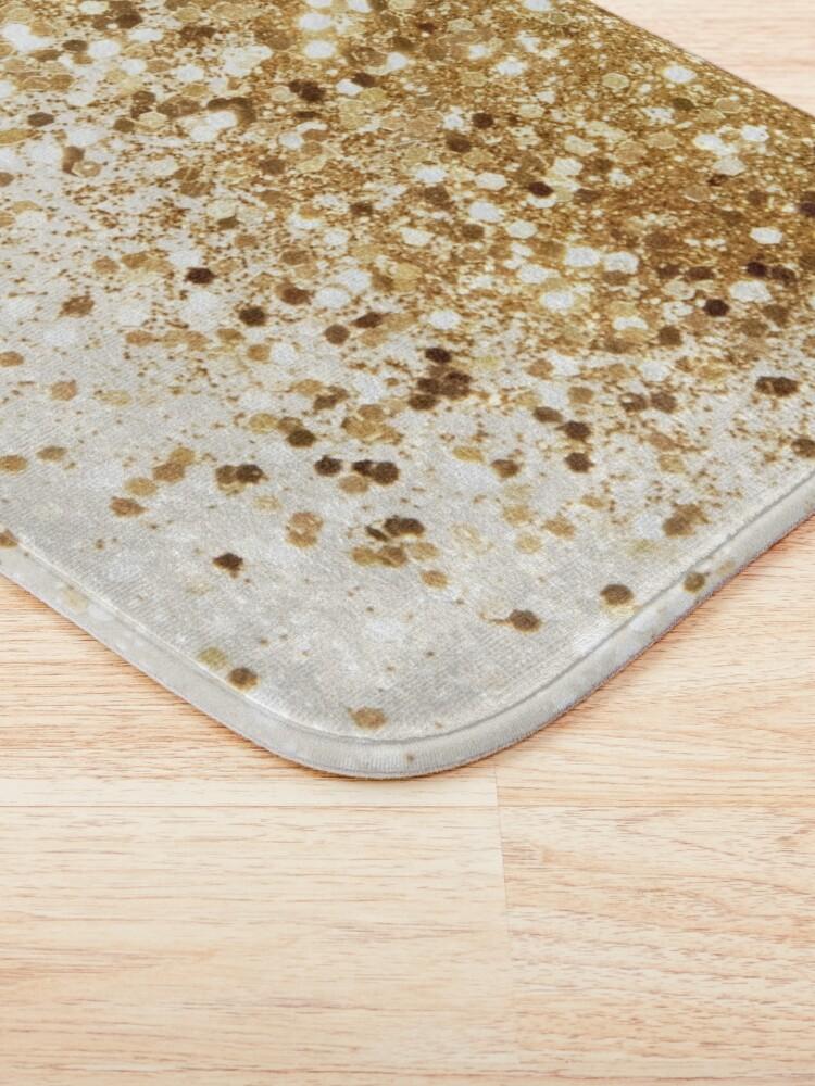 Alternate view of Sparkling Gold Glitter Glam #2 (Faux Glitter) #shiny #decor #art Bath Mat