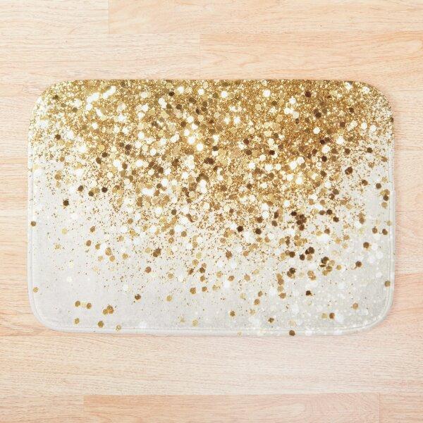 Sparkling Gold Glitter Glam #2 (Faux Glitter) #shiny #decor #art Bath Mat