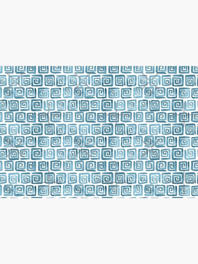 Greek Key Pattern - Blue grey by annieparsons