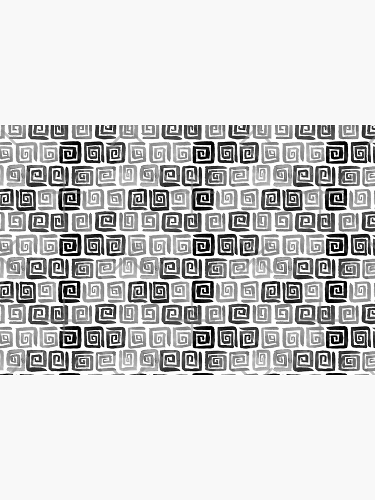 Greek Key Pattern - Monochrome by annieparsons