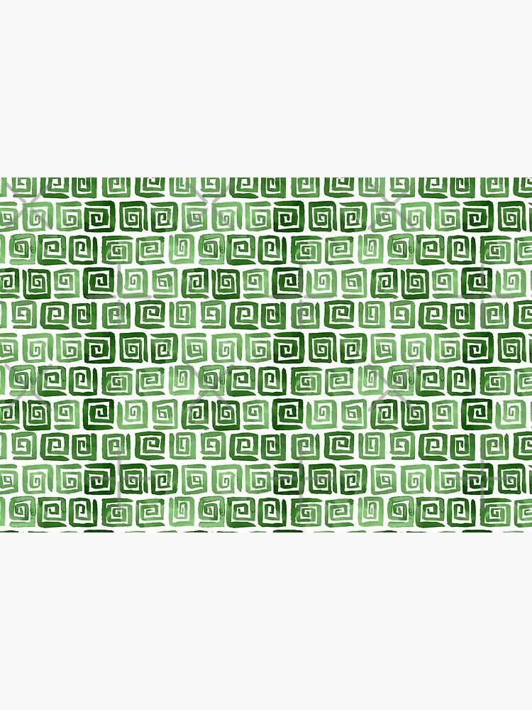 Greek Key Pattern - Green by annieparsons