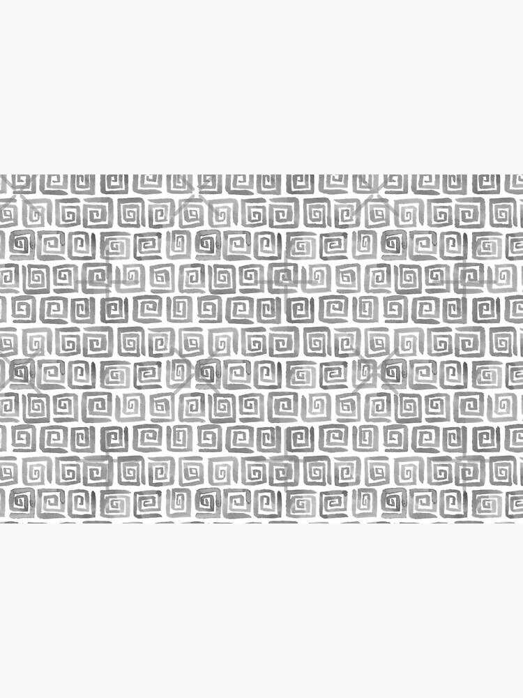 Greek Key Pattern - Greyscale by annieparsons
