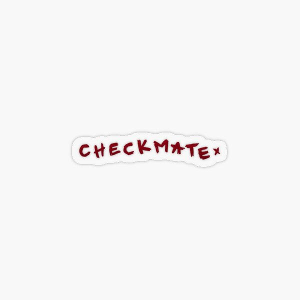 Checkmate Conan Gray Transparent Sticker