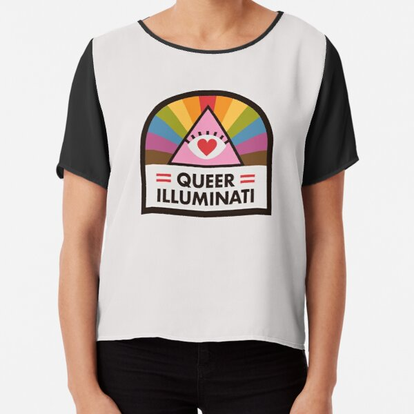 Queer Illuminati Badge Chiffon Top