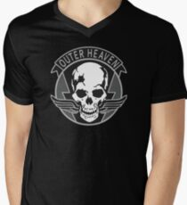 Metal Gear Solid - Outer Heaven (Gray) Men's V-Neck T-Shirt