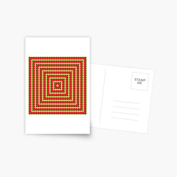 #Design, #abstract, #pattern, #illustration, psychedelic, vortex, modern, art, decoration Postcard