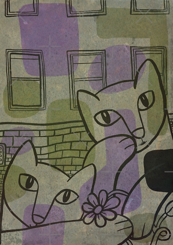 The Kitty Conspiracy (purple/green) by johnandwendy