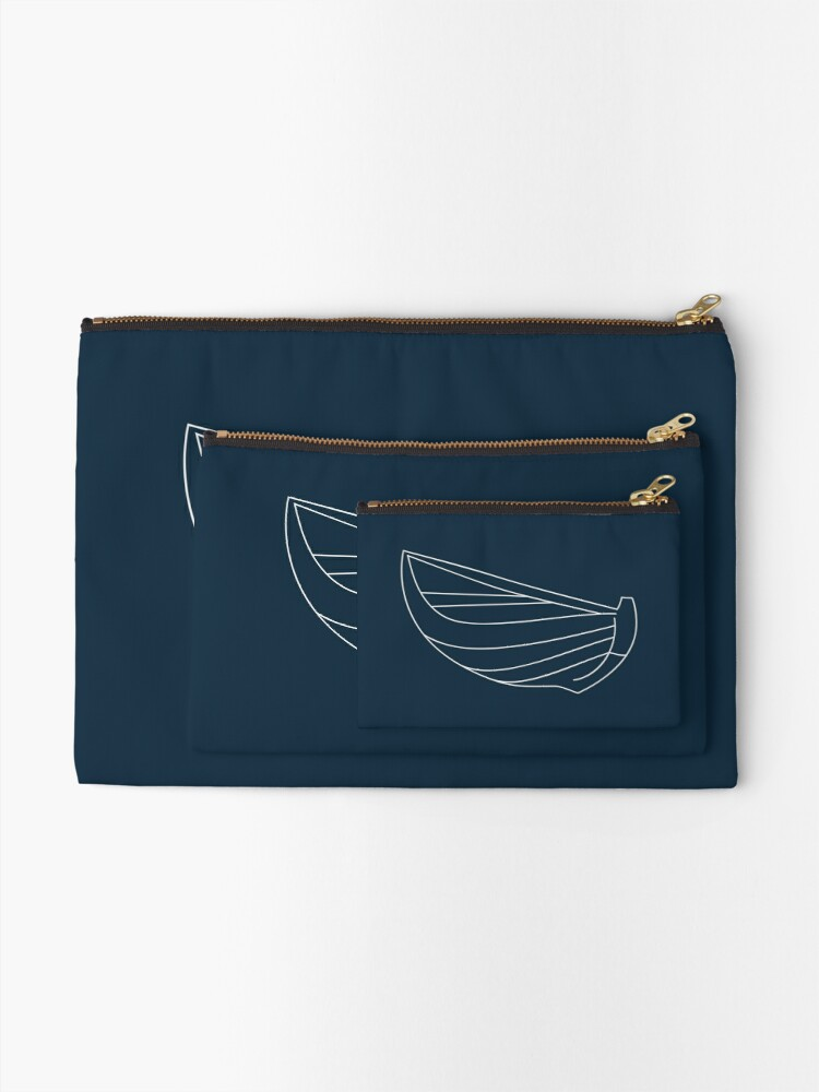 Alternate view of Wooden Boat Zipper Pouch
