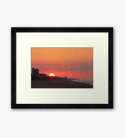 Pine Knoll Shores Sunrise Framed Print