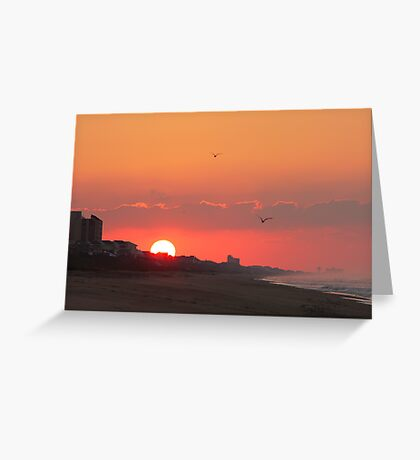 Pine Knoll Shores Sunrise Greeting Card