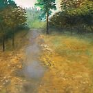 """forest cemetery path,"" original painting by mjh, 12-30-2018 by eustacia42"