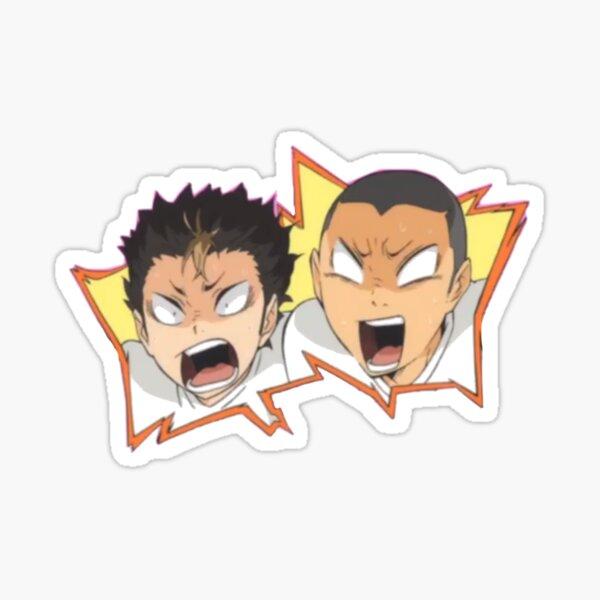 haikyu!! nishinoya and tanaka Sticker