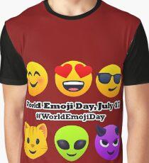 World Emoji Day July 17 #WorldEmojiDay Joypixels Emoji Graphic T-Shirt
