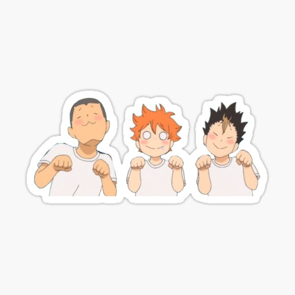 haikyu!! cute hinata, nishinoya, and tanaka  Sticker