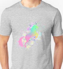 Fantasy Rainbow Paint Splattered Unicorn T-Shirt