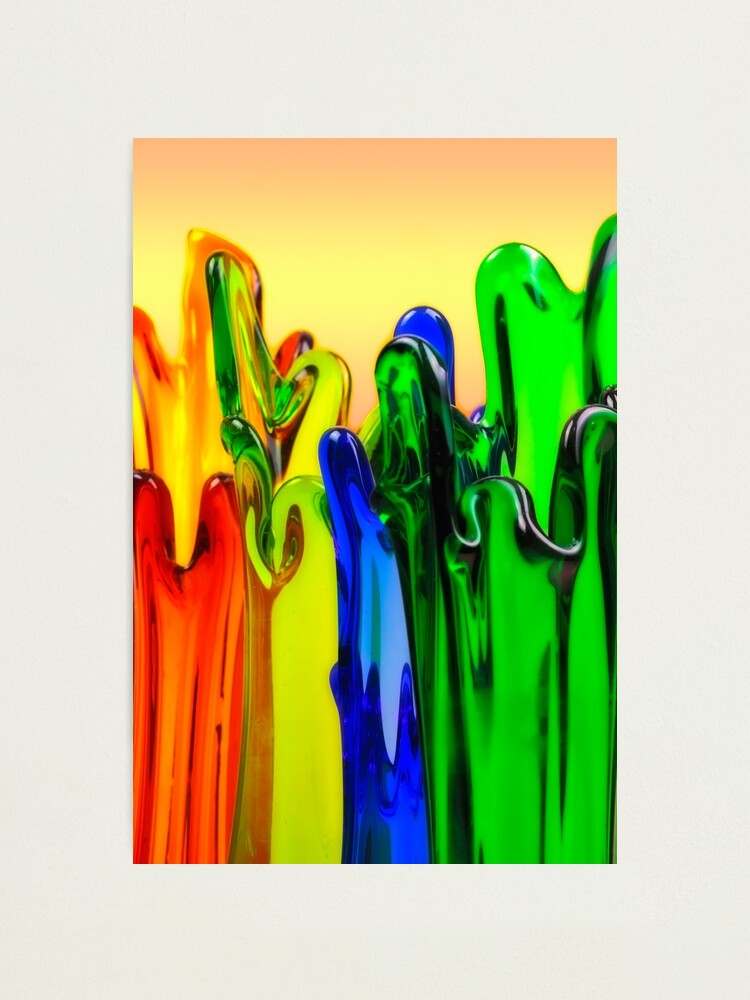 Alternate view of colorfull Art Glass vases Photographic Print