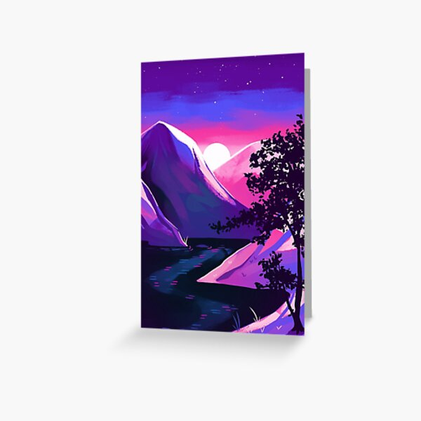 Bisexual Pride Mountain Greeting Card