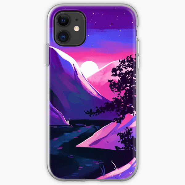 Bisexual Pride Mountain iPhone Soft Case