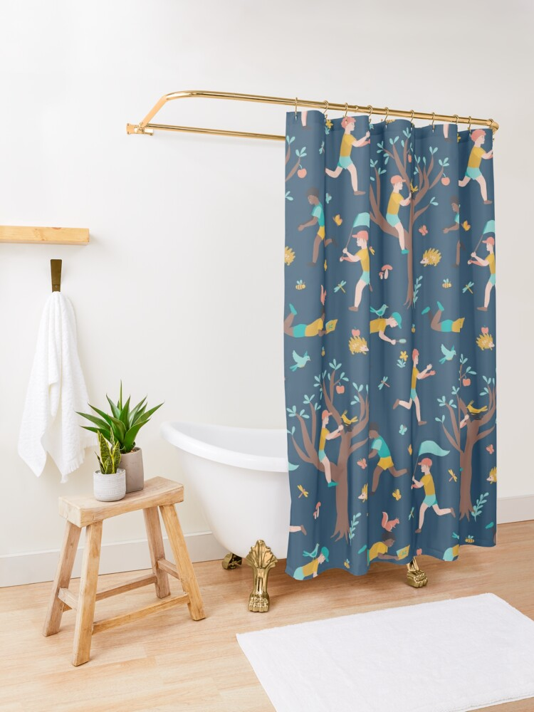 Alternate view of Future Biologist Shower Curtain