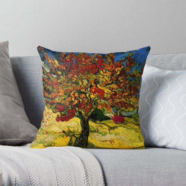 Van Gogh Mulberry Tree Throw Pillow