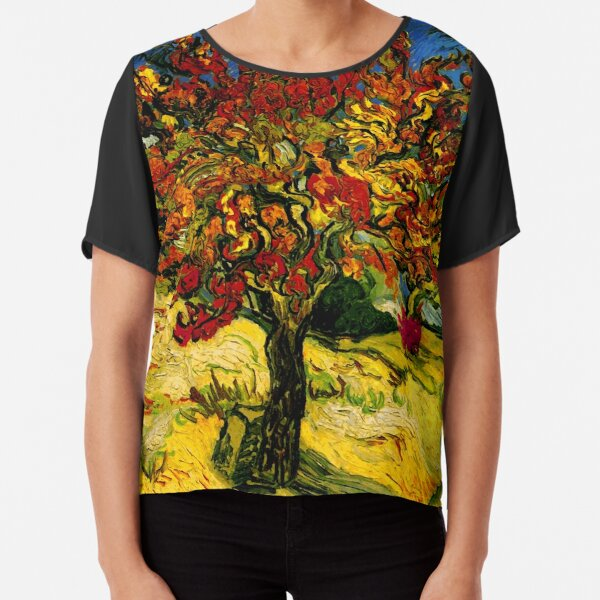 Van Gogh Mulberry Tree Chiffon Top
