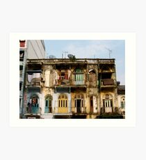 Yangon Living Art Print