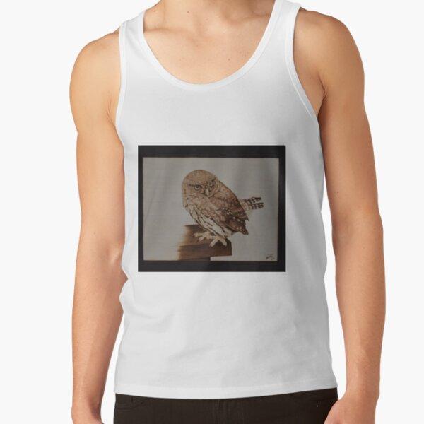 Pygmy Owl Pyrography Artwork Tank Top
