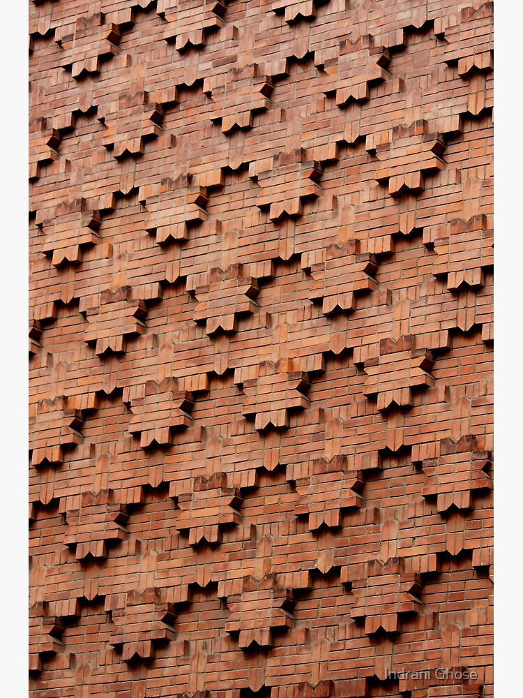 Brick Patterns On A Wall Turin Italy Greeting Card By