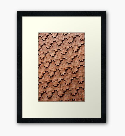 Brick Patterns on a Wall, Turin, Italy Framed Print