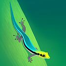 Yellow-Headed Day Gecko by Tami Wicinas